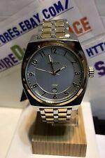 NIXON 40mm Monopoly Silver / Champagne Gold Men's Watch A3251431  NEW $225.00