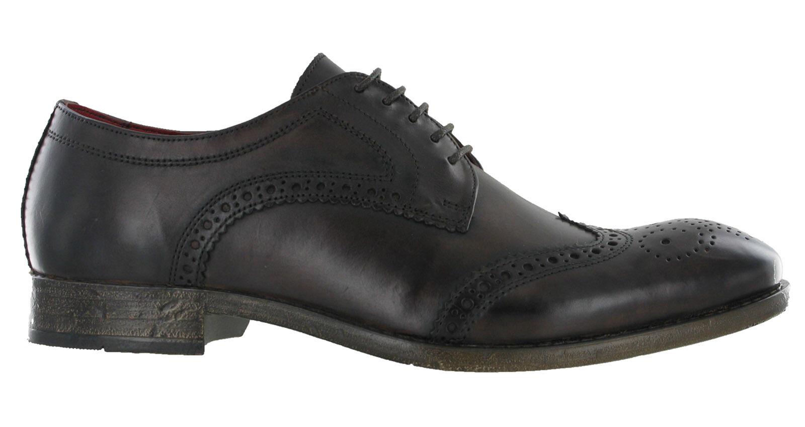 Cuero Marrón Brogue Zapatos base Londres Encaje Coniston 5 Ojo Para Hombre Formal Forrado De Encaje Londres Ups c1f529