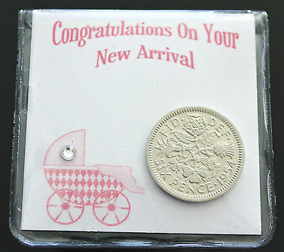 LUCKY SIXPENCE FOR NEW BORN BABY GIRL