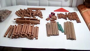 VINTAGE-HALSAM-and-LINCOLN-LOGS-BUILDING-TOYS-LOT