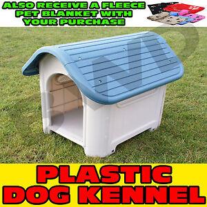 Plastique-solide-resistant-chien-chiot-pet-Deluxe-Chenil-Maison-abri-exterieur-interieur