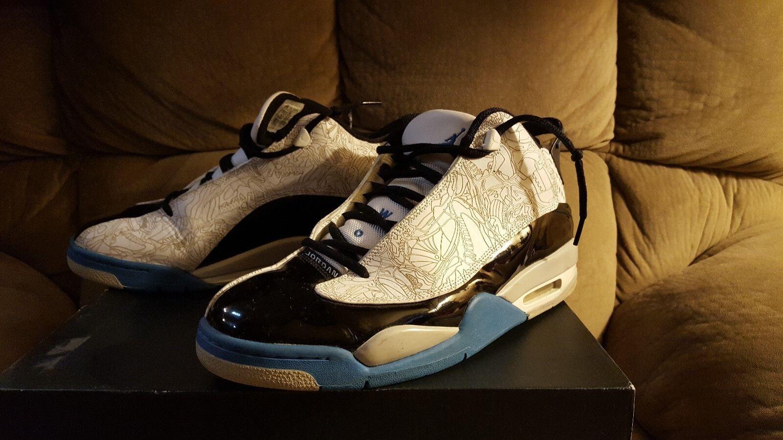2005 Nike Air Jordan DUB-ZERO XX 20 blanc  Noir PHOTOBleu LASER 311046-102 10.5