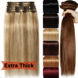 Luxury clip in remy human hair extensions thick double weft full image is loading luxury clip in remy human hair extensions thick pmusecretfo Choice Image