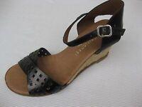 Eric Michael Womens Shoes $130 Dakota Black Jute Wedge Sandal 40 9