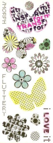 Miss Elizabeth clear stickers-Floral /& butterflies.