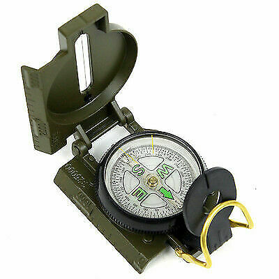 Outdoor Camping Compass Military Army Hiking Camping Lens Metal Pocket Compass