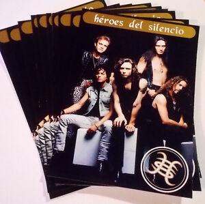 Pack-di-10-Cartoline-Heroes-Del-Silencio-Merchandise-Avalanche-1995