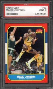 Magic-Johnson-Lakers-HOF-1986-87-Fleer-Basketball-53-PSA-9-Mint-COMBINE-SHIPPING