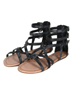 e46938d691f Image is loading New-Women-Liliana-Bianca-06-Snake-Strappy-Ankle-