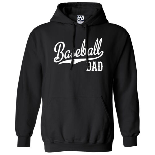 All Sizes /& Colors Baseball Dad Script /& Tail HOODIE Hooded Sweatshirt Daddy