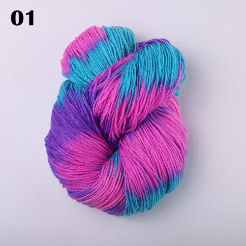 17 Colores Hágalo usted mismo leche suave lana hilo de ganchillo hilo de ganchillo mano artesanal Suéter De Bebé