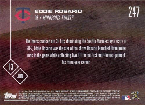 Topps NOW 247 Eddie Rosario Minnesota Twins 3 HR v Seattle Mariners June 13 2017