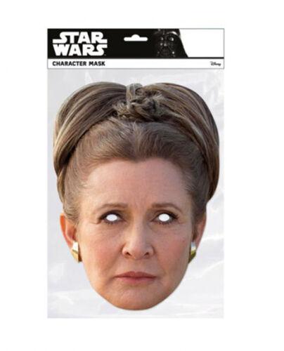 Princess Leia Organa Star Wars The Last Jedi Single 2D Card Party Face Mask