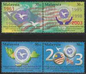 298-MALAYSIA-2003-CONFERENCE-OF-HEAD-OF-STATE-OF-NON-ALIGNED-MOVEMENT-SET-MNH