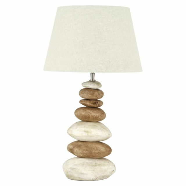 Pebble 64cm Table Lamp Only Natural H64