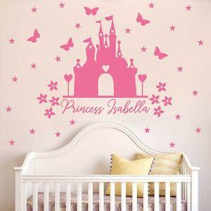 Adesivi Murali Per Bambini Disney.Princess Castello Di Adesivi Murali Con Nome Personalizzato