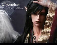 Bjd 1/3 Doll Uncle Heliot Phonolus Rauco of Fear FREE FACE MAKEUP+FREE EYES