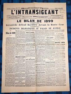 La-Une-Du-Journal-L-intransigeant-1er-Janvier-1900-Le-Bilan-De-1899