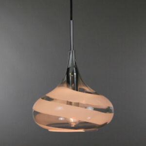 alte-Doria-Pendel-Lampe-Glas-Trompeten-Spiral-Leuchte-60er-70er-Jahre-vintage