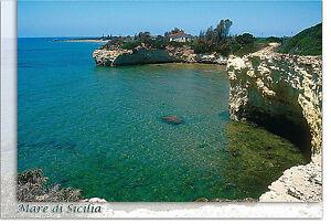 CARTOLINA-SICILIA-ISPICA-CIRIGA-SPIAGGIA-MARE-BEACH-SEA-SICILY-POSTCARD