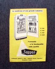 L587- Advertising Pubblicità -1957- ZOPPAS , APPARECCHIATURE PER LA CUCINA.