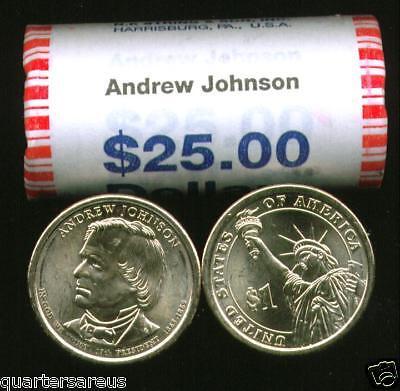 ~Head//Tail~ 2011 D MINT BU RUTHERFORD B HAYES $25 GOLD DOLLAR ROLL ~CHEAP~