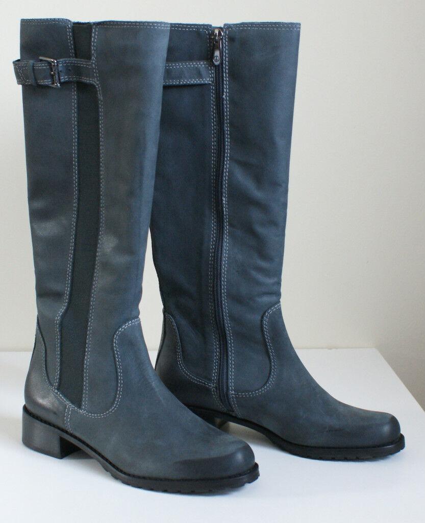 365 DONALD J PLINER BURIEL Leather Zip Tall BOOTS Womens 6.5 NEW IN BOX