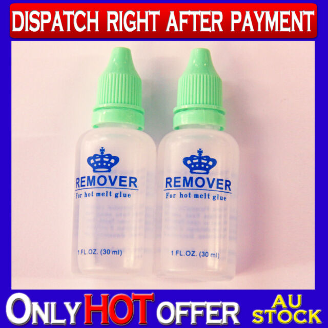 2x Hot Melt Glue Remover for Glue keratin bonded Hair Extension removal 2x 30mL