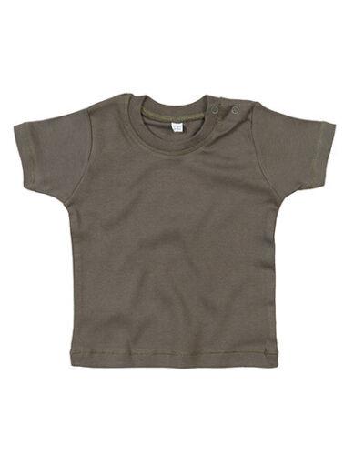 Babybugz Baby T-Shirt BABY T Bio-Baumwolle Einfarbig Rundhals Kurzarm Neu BZ02