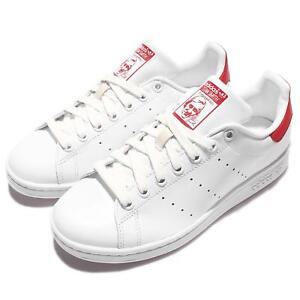 newest 1d6dd 4b93d Image is loading adidas-Originals-Stan-Smith-White-Red-Mens-Casual-