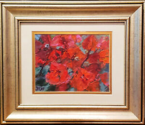 "Original oil on paper 14x18 cm framed into 8""x10"" frame painting from artist"