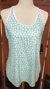 Large Camiseta Nike entrenamiento Sz Nwt Emerald para mujer White Cool Polkadot de Stay PP4FqrwBg