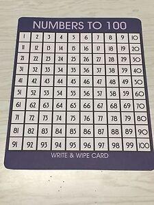Set-of-10-Math-Laminated-Number-to-100-Work-Mats-Dry-Erase
