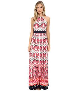 Eliza J Halter Geometric Maxi Dress Inset