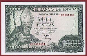 Spain. 1000 Pesetas De 1965 Serie: 1e ( Sc / Unc ) Hafw31pj-08011323-222534330
