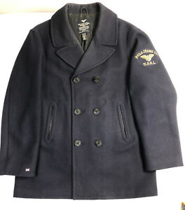 POLO-RALPH-LAUREN-NAVAL-PEACOAT-EMBROIDERED-PATCH-BLUE-MENS-XXL-2249