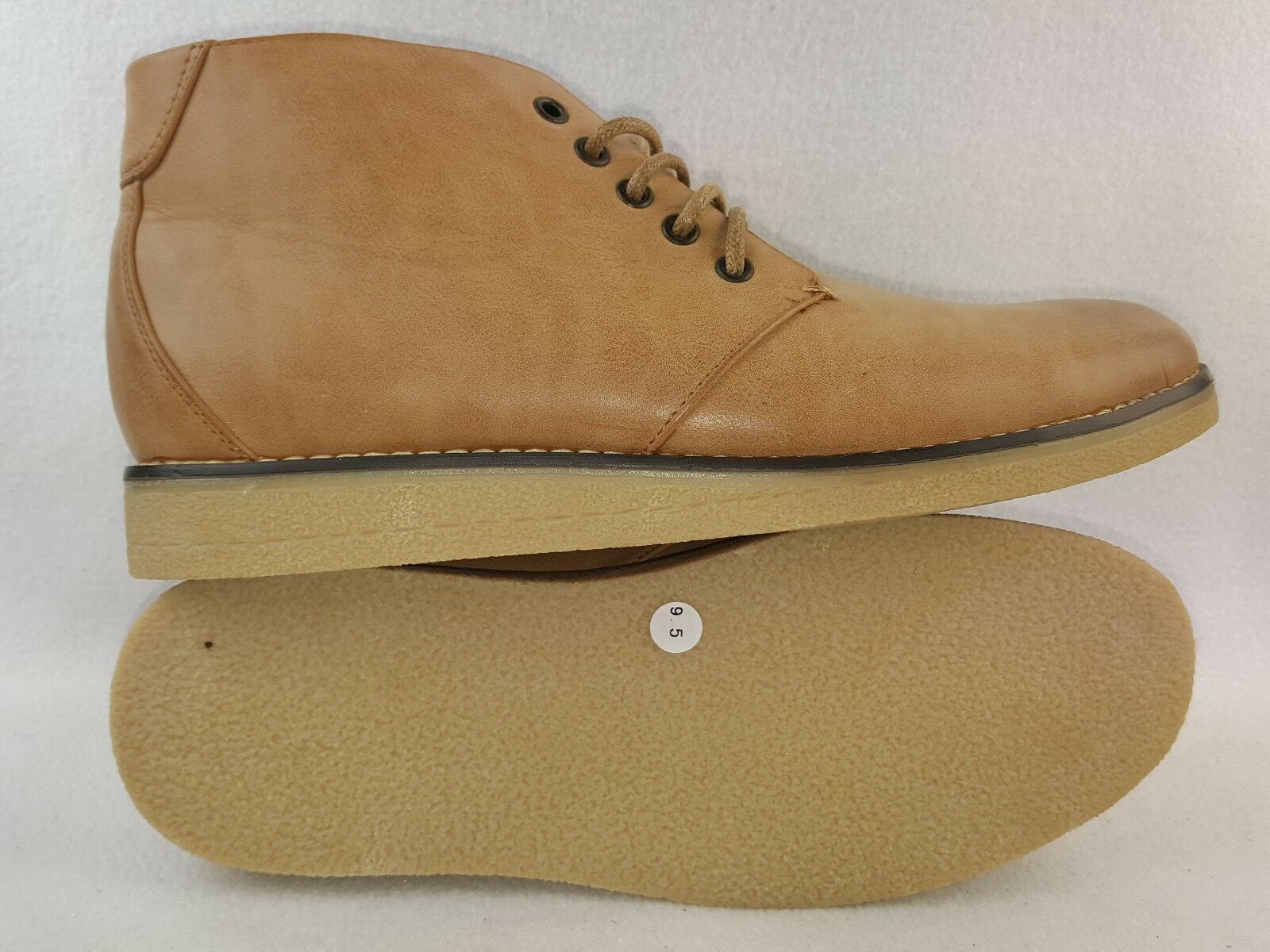 M Bredher  505  Men's Comfort Casual Ankle Boots, Camel Size 9.5