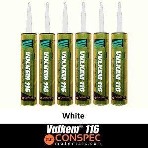 Details about Vulkem 116 WHITE Polyurethane Sealant - 10 1 oz Cartridge 6  TUBES Tremco