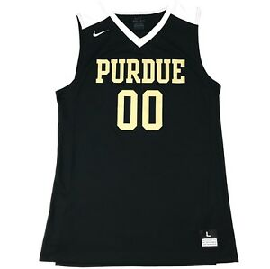 purchase cheap 80d6a 35c45 Details about New Nike Purdue Boilermakers Basketball Jersey Men's L Black  Gold White 802325
