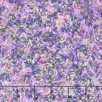 Claude Monet-Orchid-Robert Kaufman-By The Yard-Purple-Green
