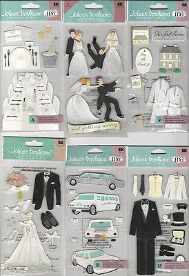 U CHOOSE Assorted Jolee's WEDDING 3D Stickers marriage bride tux