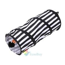 Foldable Cat Tunnel Pet Puppies Crinkle Tube Kitten Fun Play Toy With Ring Bell#