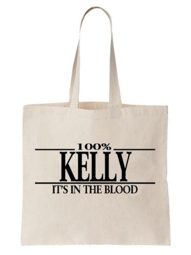 Kelly Family Name Tote Shoulder Bag Shopper Surname Gift Gift Tree Cool