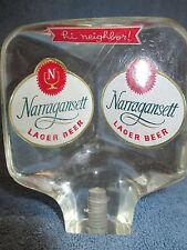 1960's NARRAGANSETT BEER TAP LUCITE HI NEIGHBOR ALE LAGER CRANSTON RHODE ISLAND