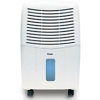 Haier 2 Speed Portable Electronic Air Dehumidifier With Drain, 45 Pint | De45em on sale