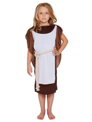 GIRLS VIKING FANCY DRESS COSTUME WARRIOR SAXON HISTORICAL KIDS OUTFSIZE L