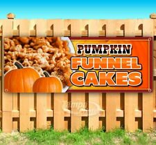 Pumpkin Funnel Cakes Advertising Vinyl Banner Flag Sign Many Sizes Available Usa