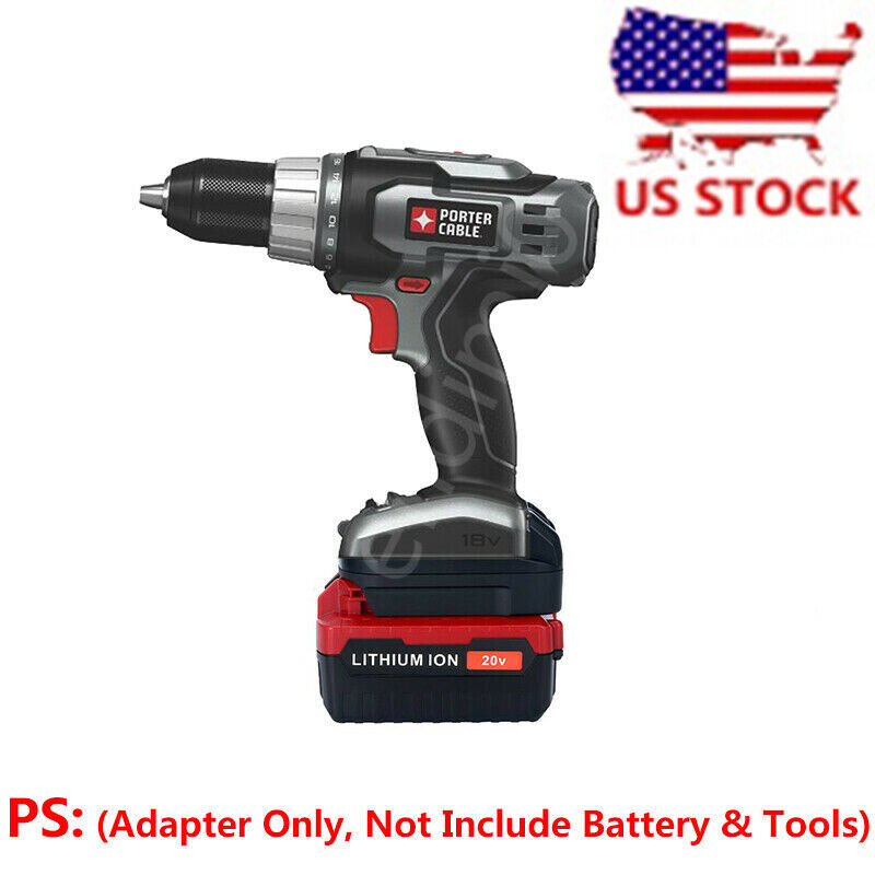PORTER-CABLE 20V PCC680 Li-ion Battery To 18V Power Drill Ad
