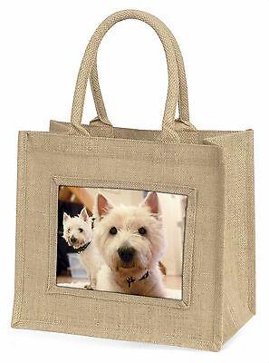 West Highland Terrier Hunde Große Natürliche Jute-einkaufstasche Weihnachten G,