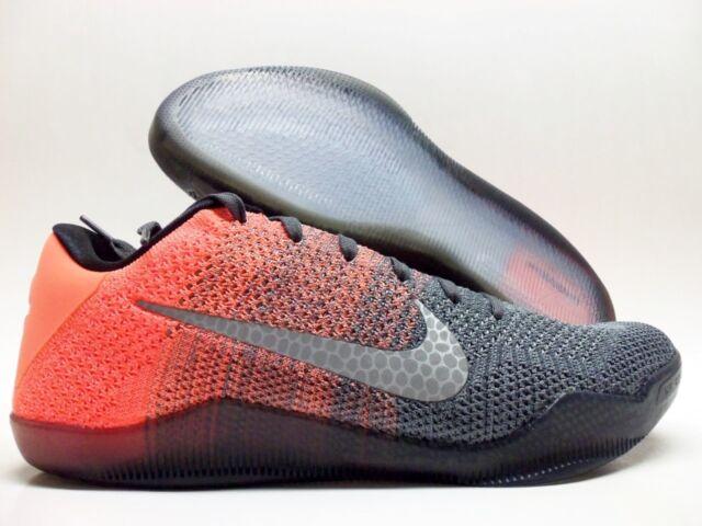 pretty nice c9ab2 9f9c5 Nike Kobe XI Elite Low Mens Basketball Shoes 10 Dark Grey Mango 822675 078